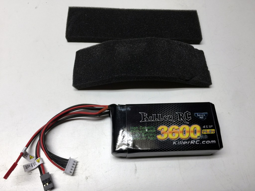 Killer RC 3600mAh 14.8v RX Lipo Battery