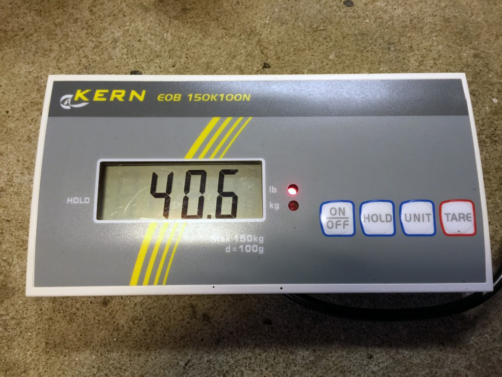 Final weight of the Losi 5-ive T Brushless with batteries